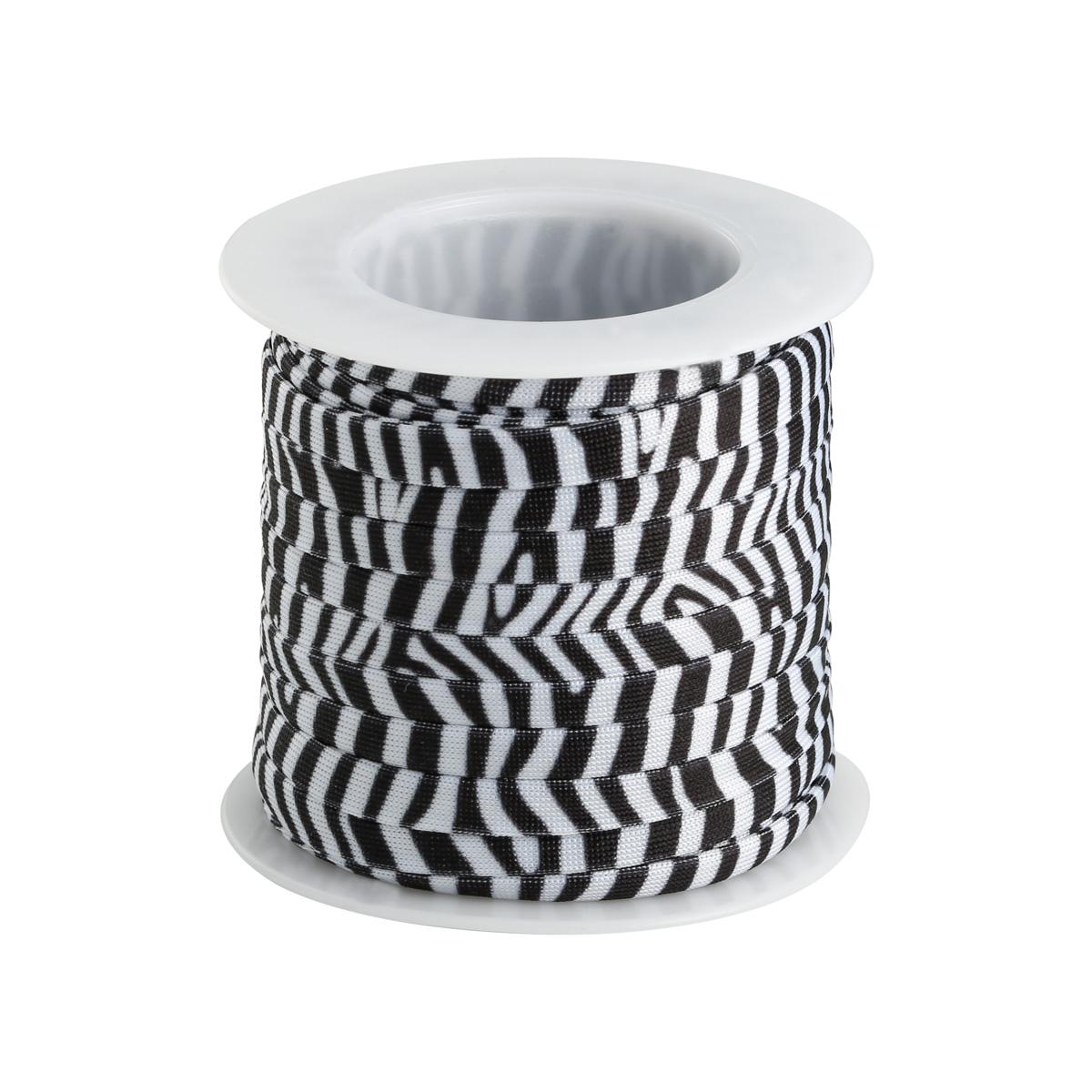 Elastische band diy zebra - 6mm