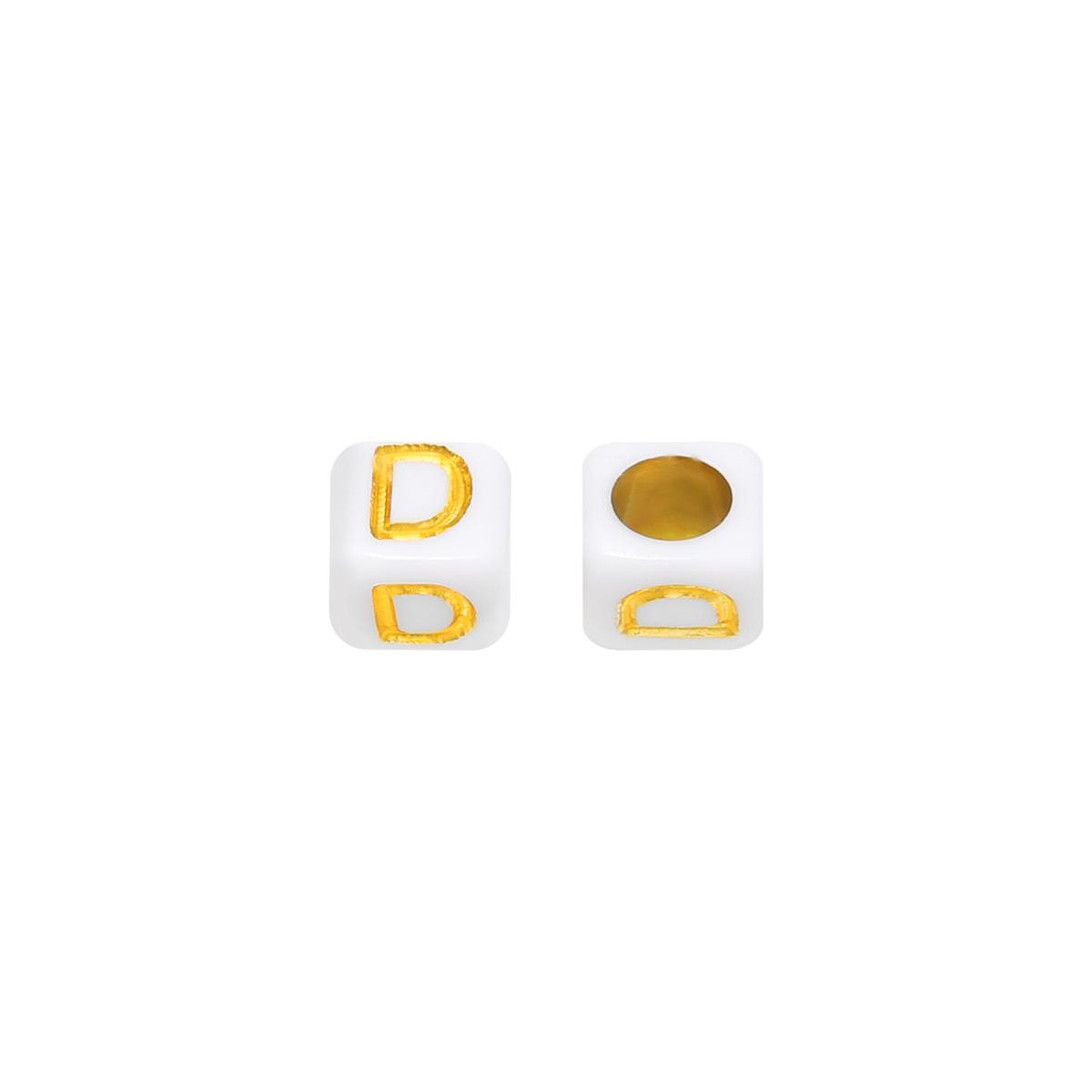 Cuentas DIY Letter D - 6MM