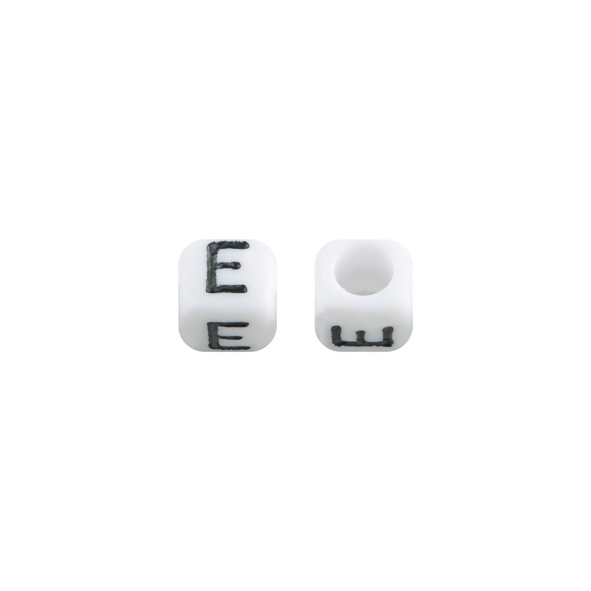 Cuentas DIY Letter E - 6MM