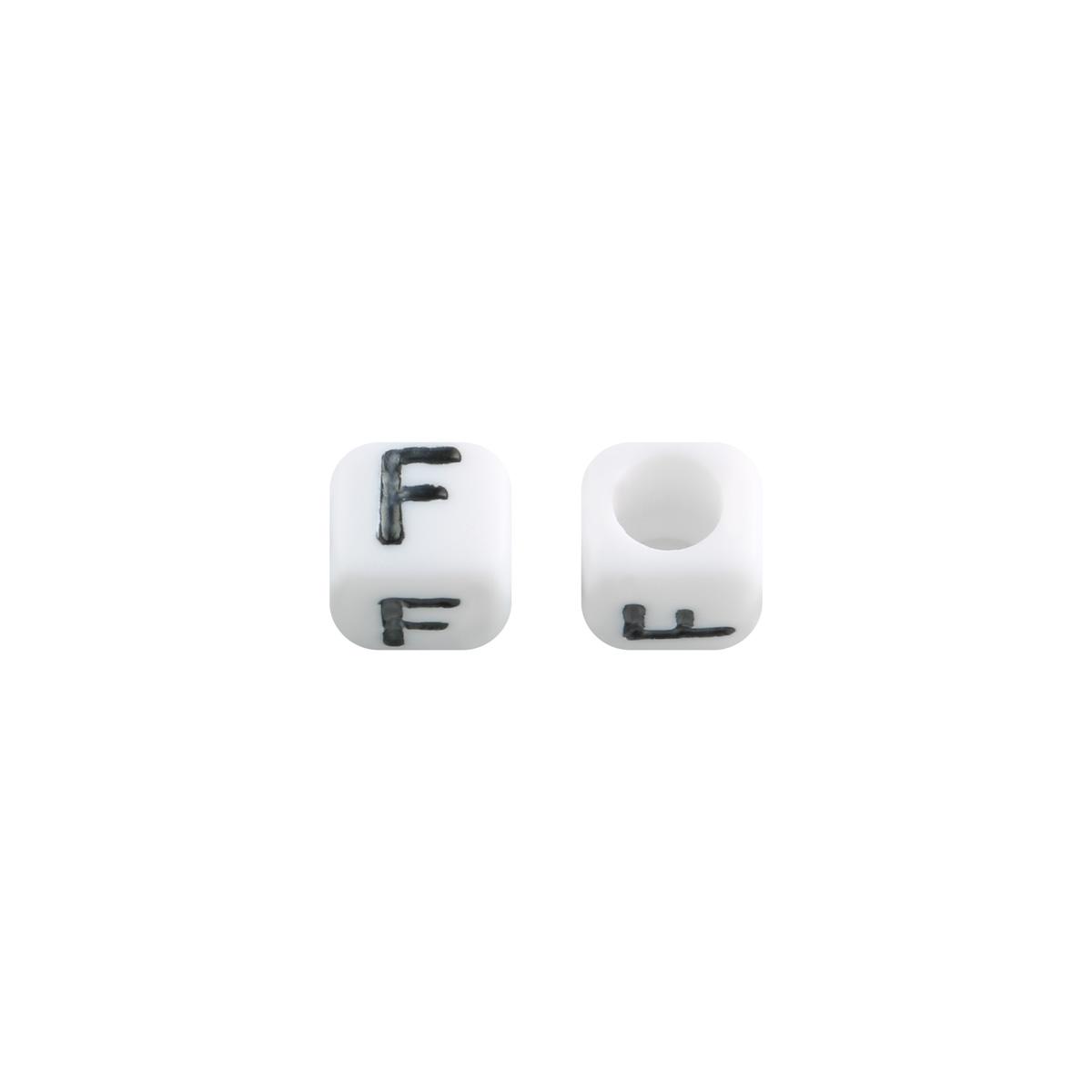 Perlen diy letter f - 6mm