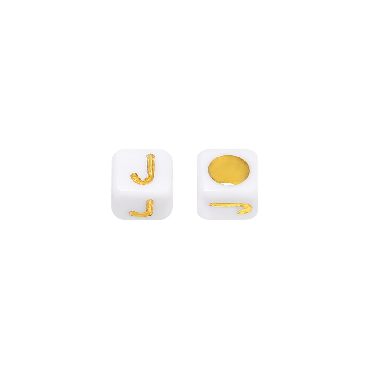 Kralen DIY Letter J - 6MM