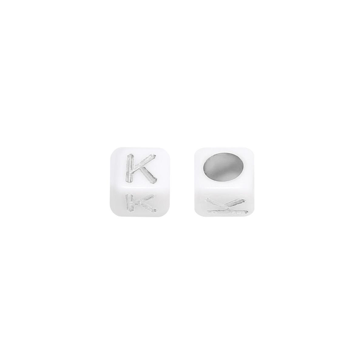 Perlen diy letter k - 6mm