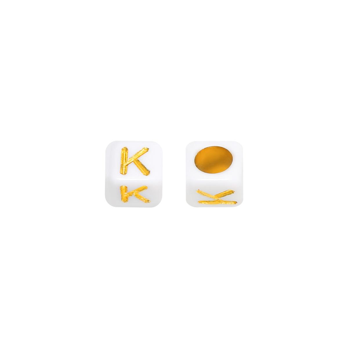 Kralen DIY Letter K - 6MM