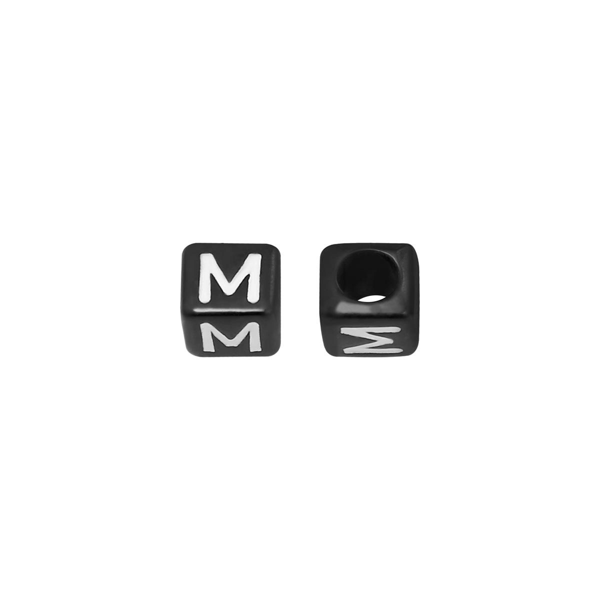 Perlen diy letter m - 6mm
