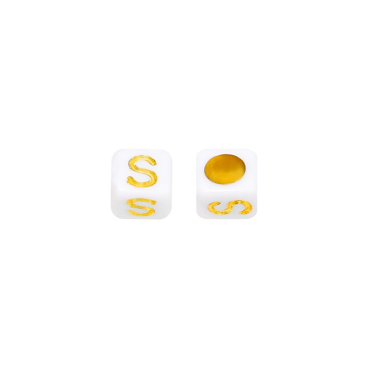 Perlen diy letter s - 6mm