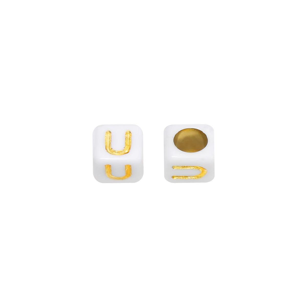Perlen diy letter u - 6mm