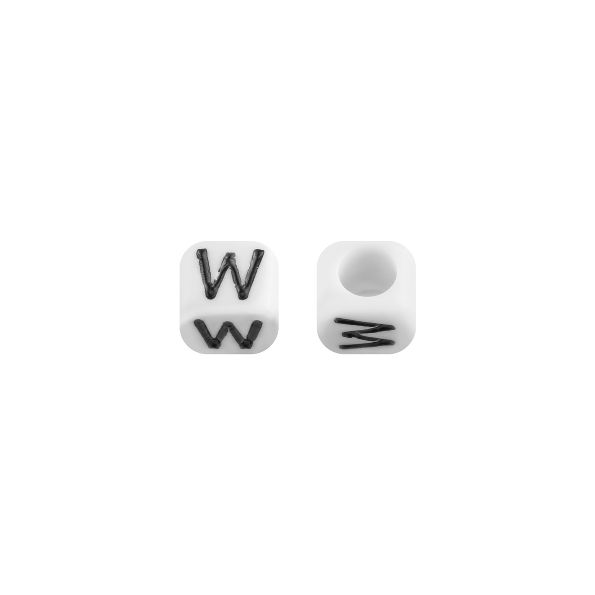 Cuentas DIY Letter W - 6MM