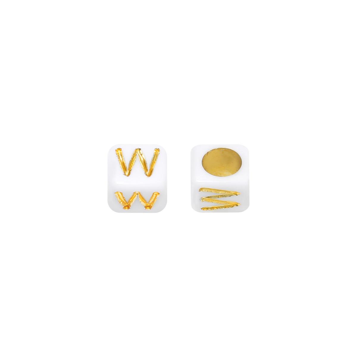 Kralen DIY Letter W - 6MM