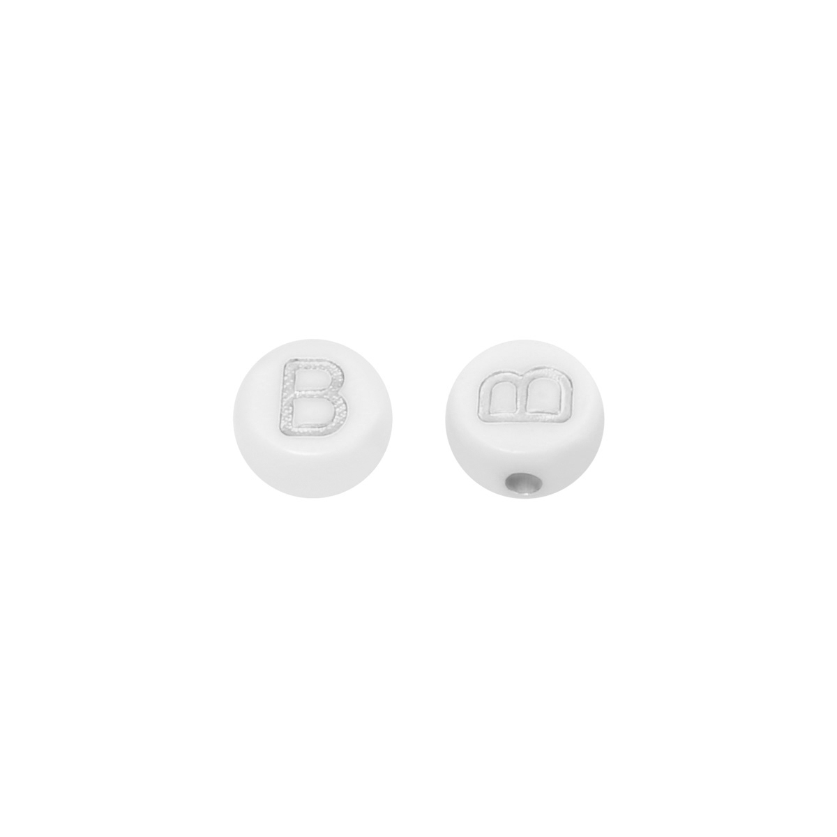 DIY Flat Beads Letter B - 7MM