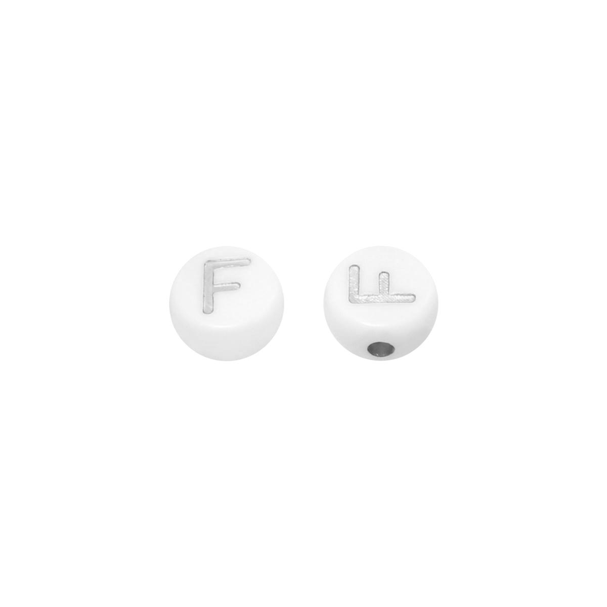 DIY Flat Beads Letter F - 7MM