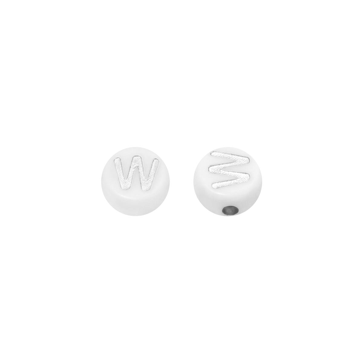 Diy flat beads letter w - 7mm