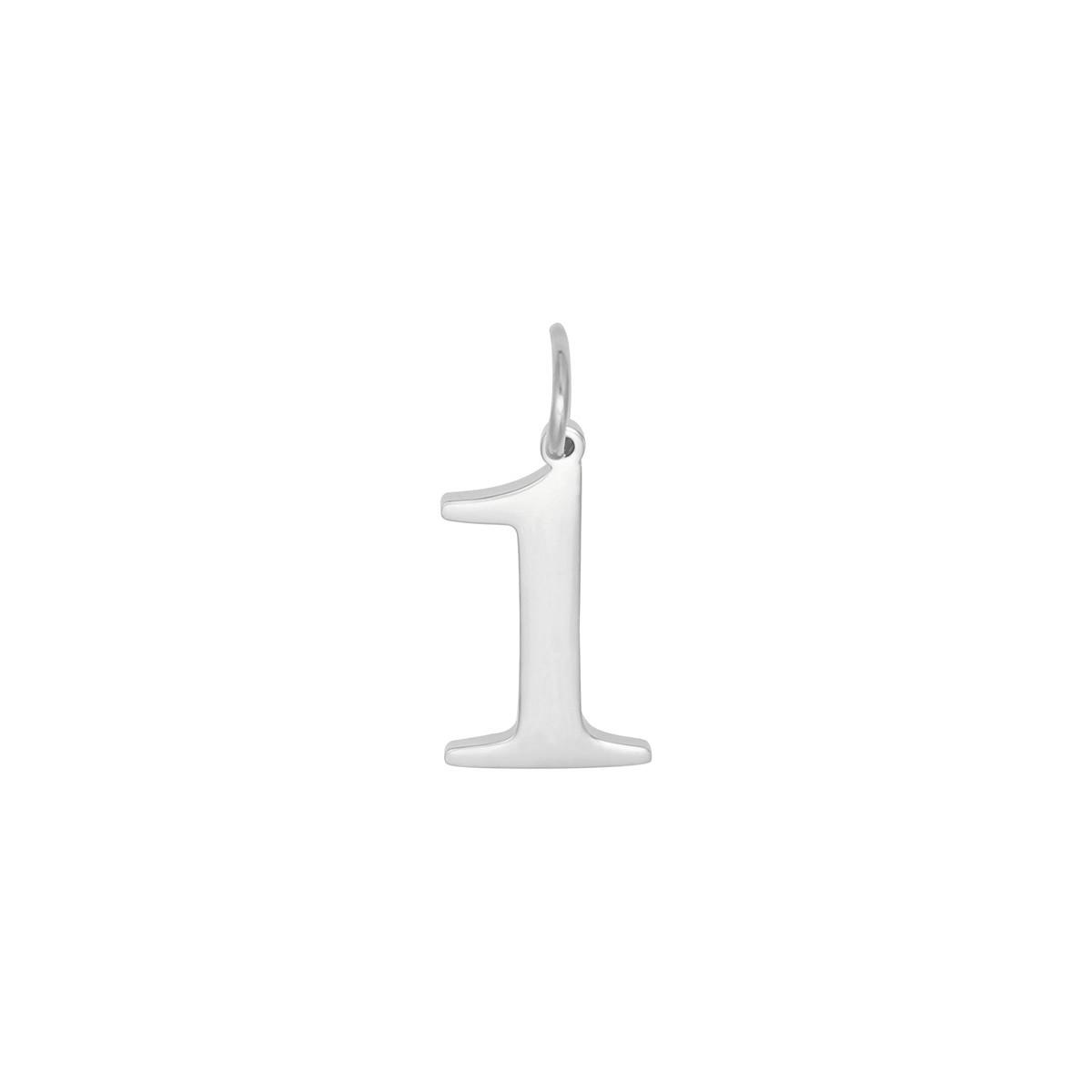 Diy charm digits silver- 9