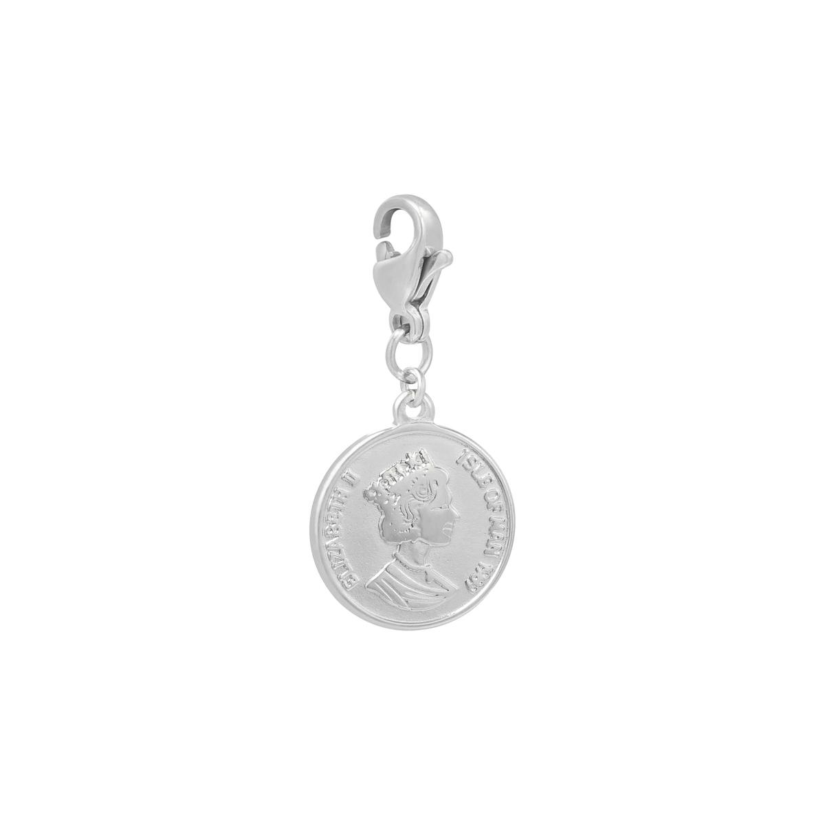 Diy clasp charm queen coin