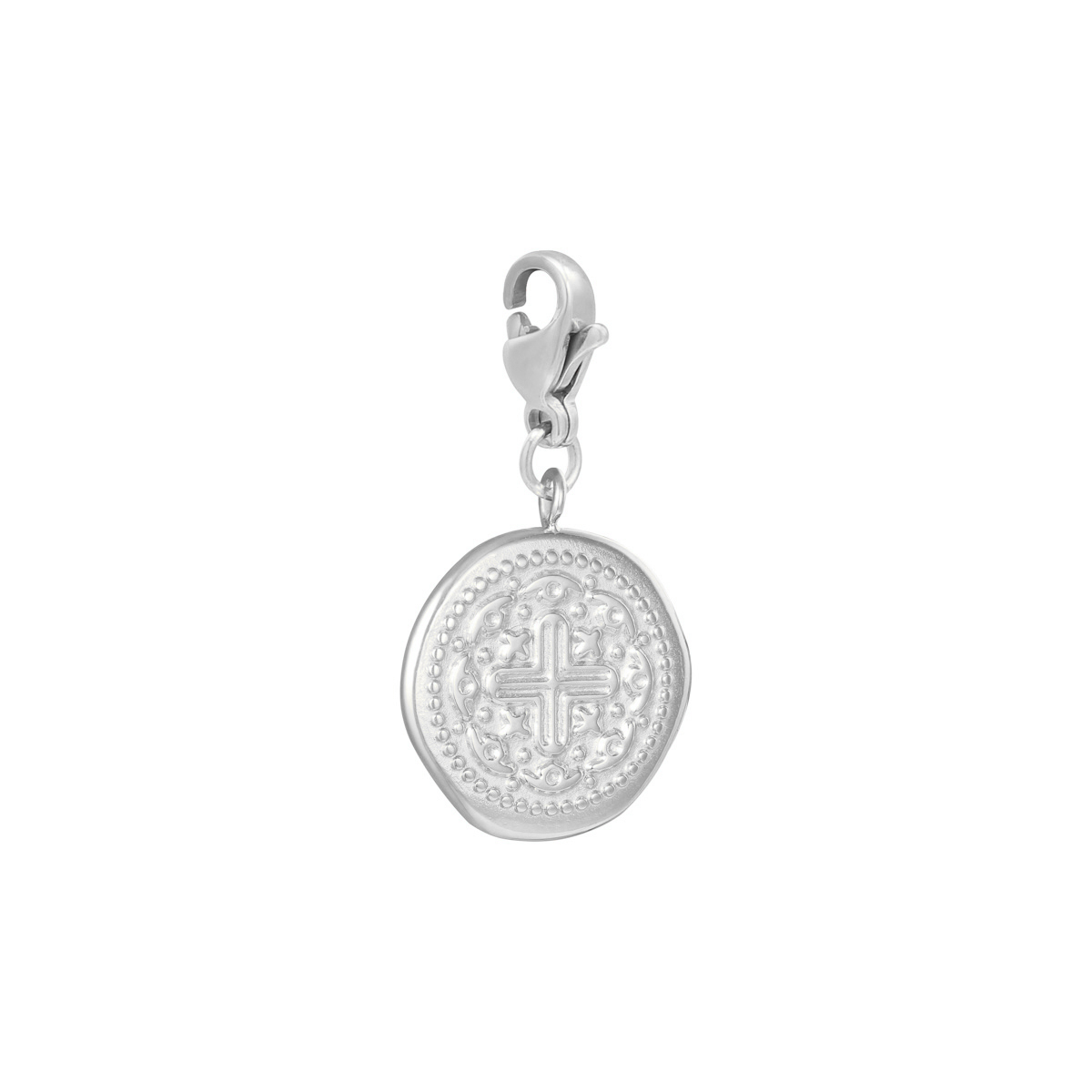 Diy clasp charm cross coin