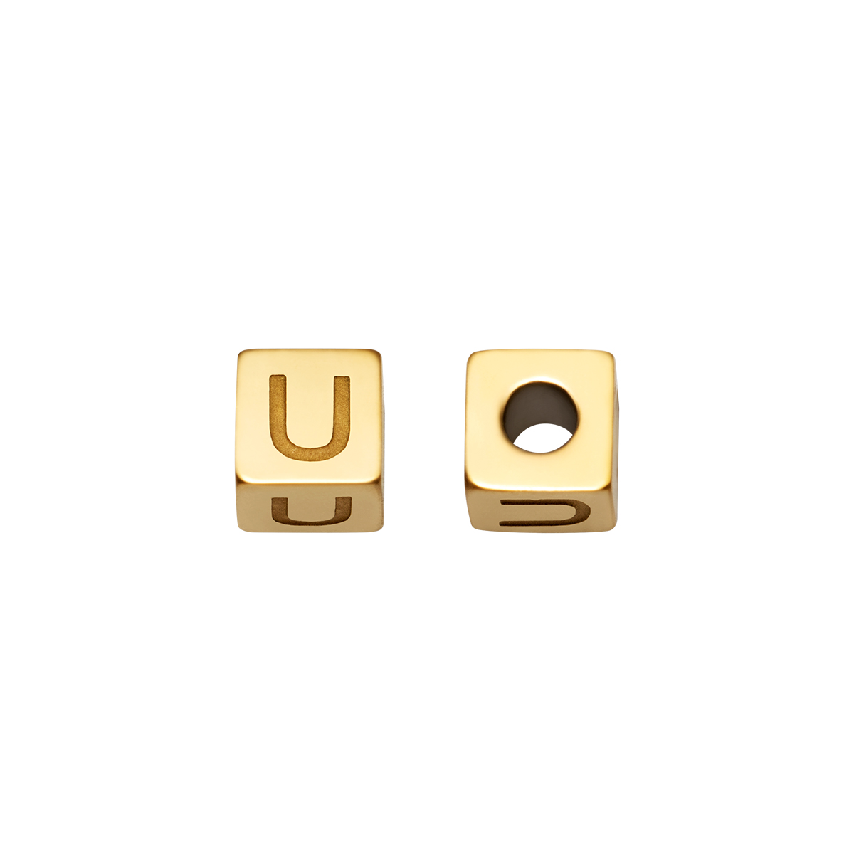 DIY Beads Alphabet Gold
