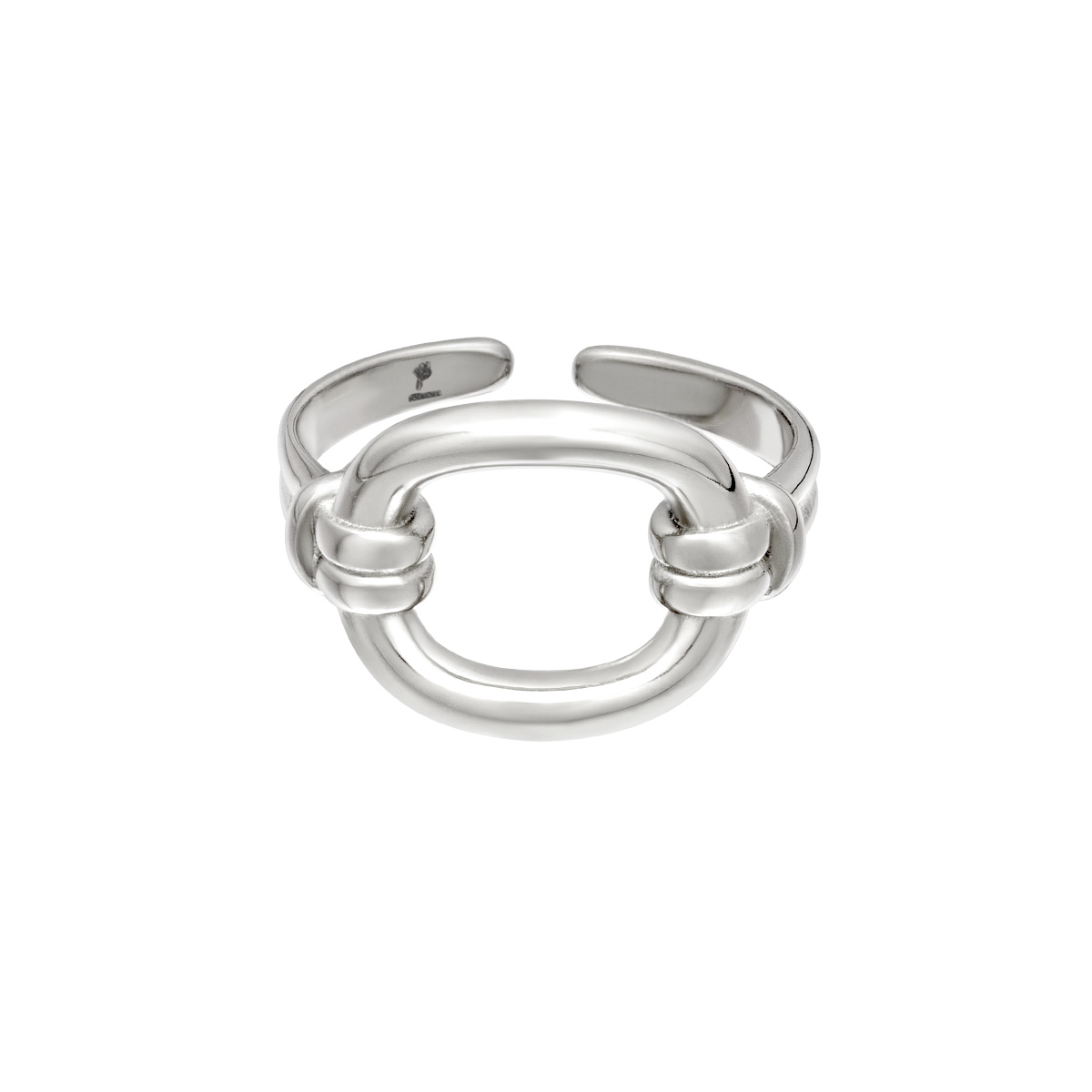 Verstelbare roestvrijstalen ring