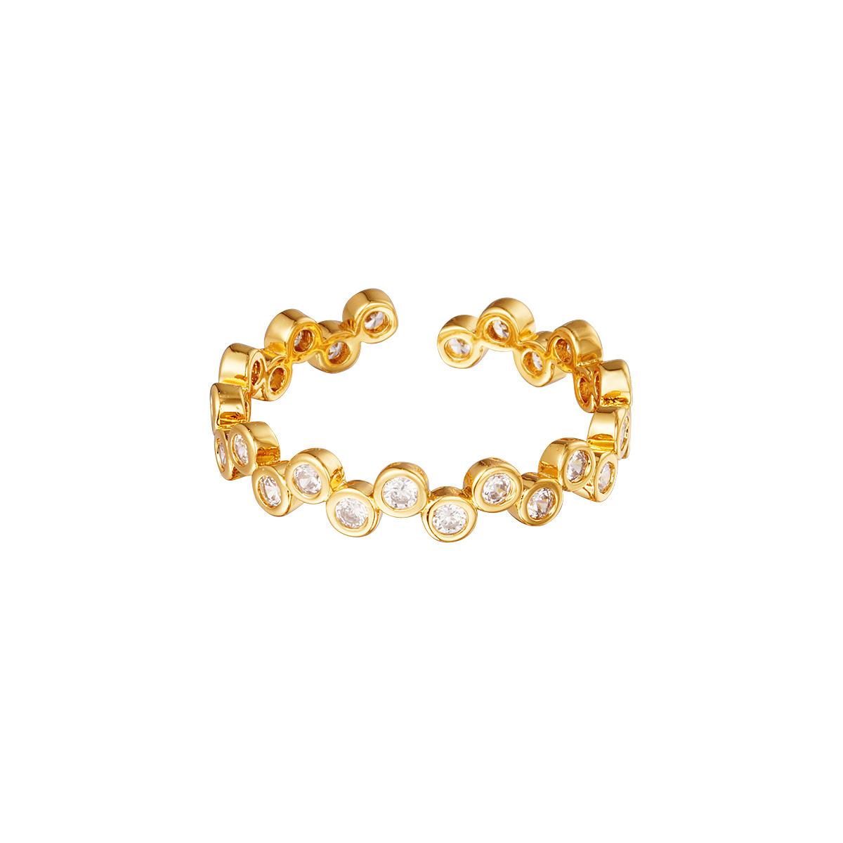Verstellbarer ring mit zirkoniasteinen