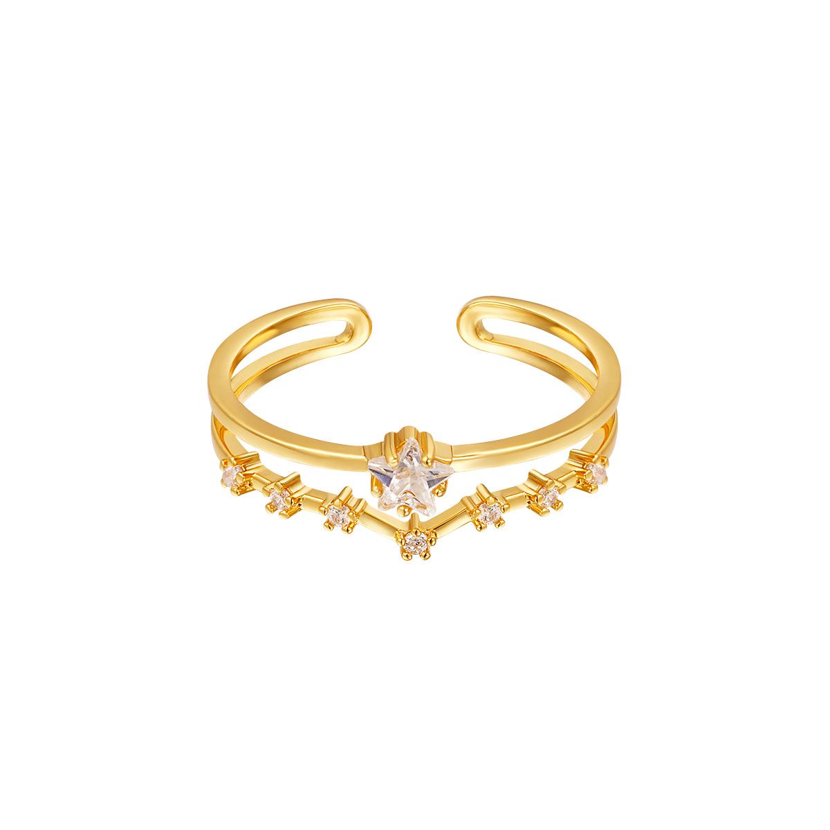 Anillo Brightest Star Gold