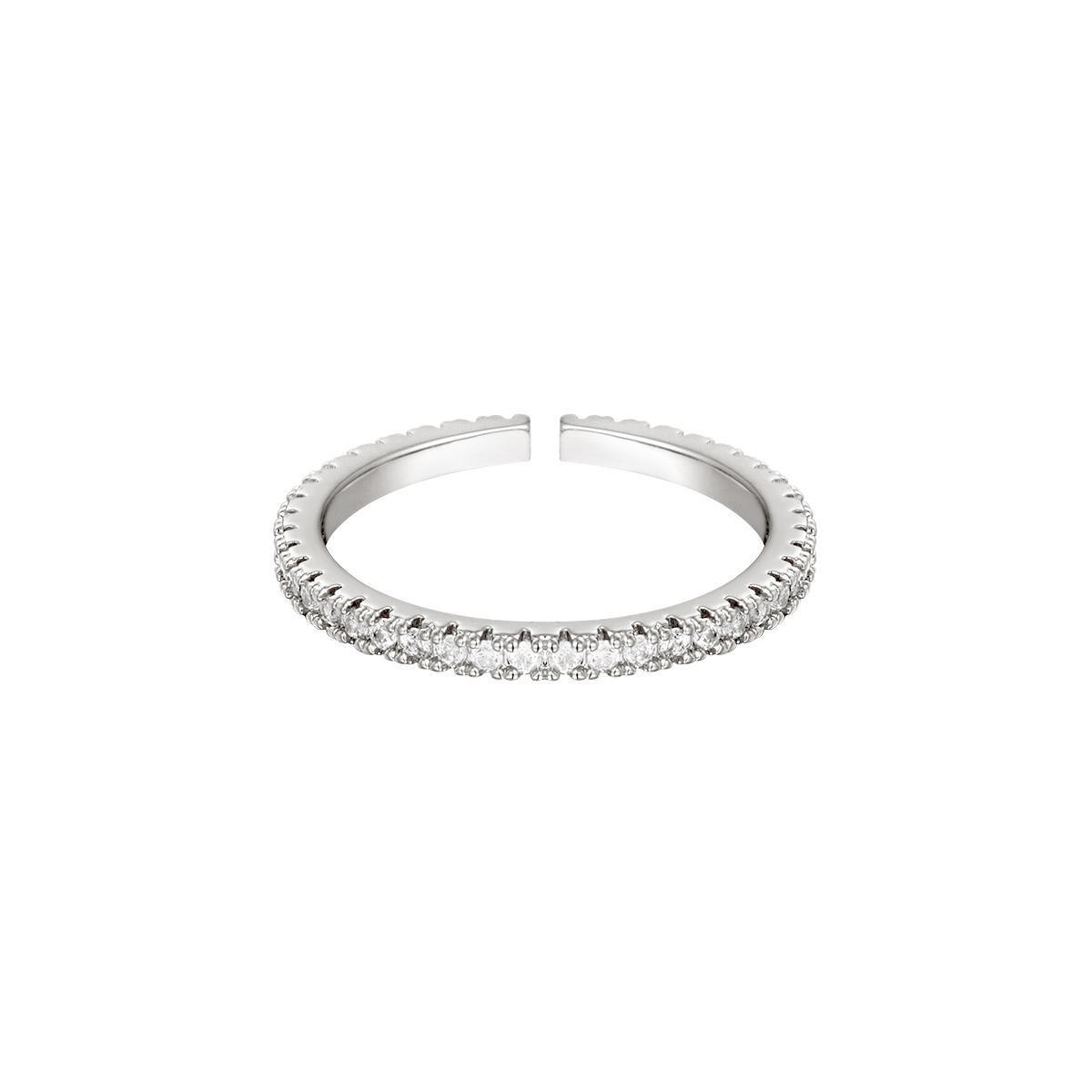 Verstelbare ring steentjes