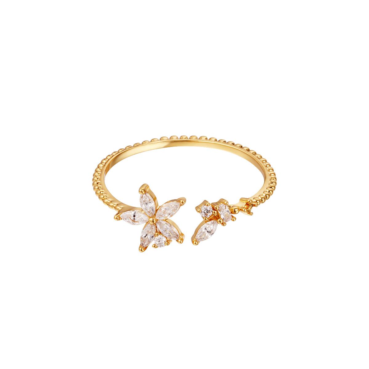 Eleganter blumenring gold