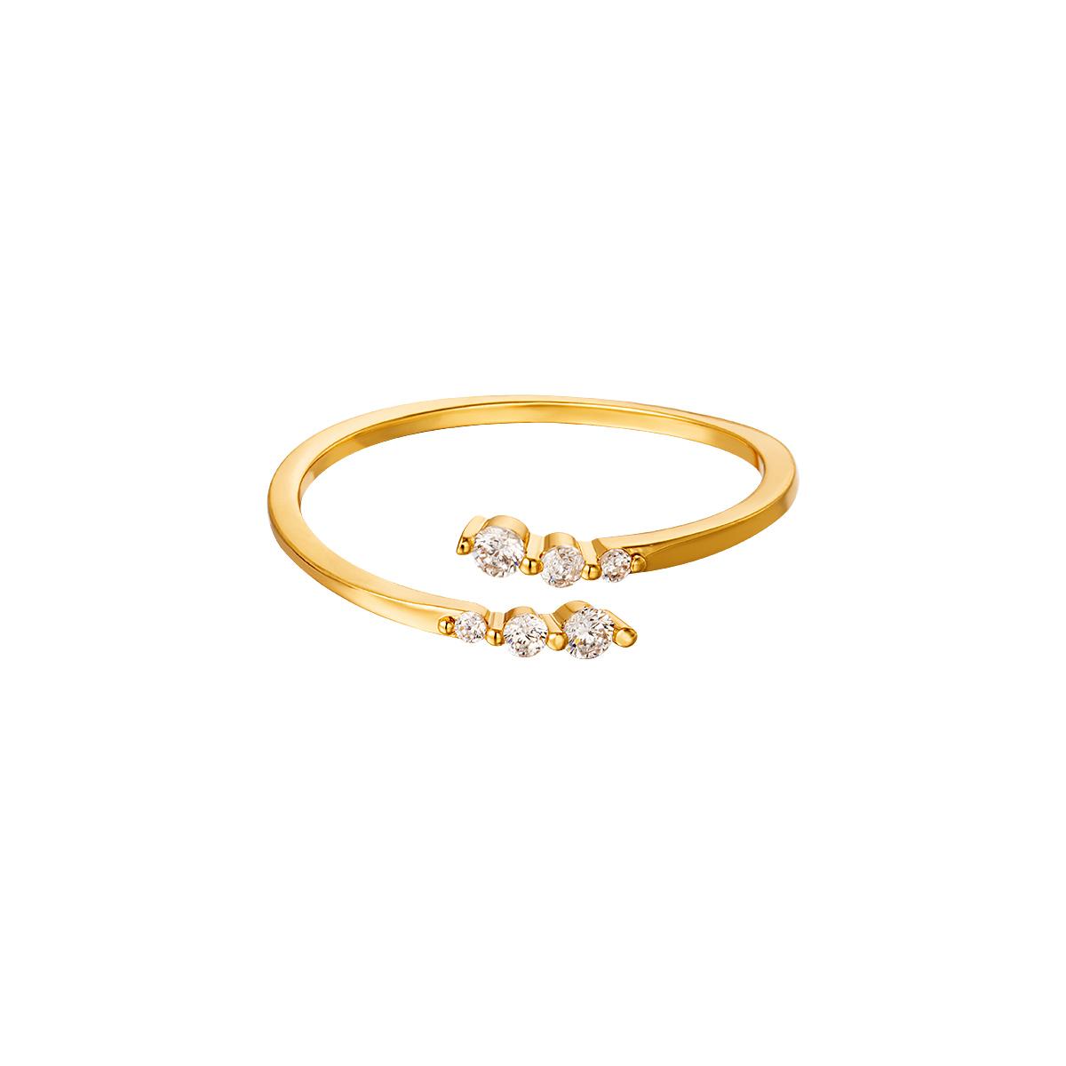 Anillo Sparkling Twist Oro