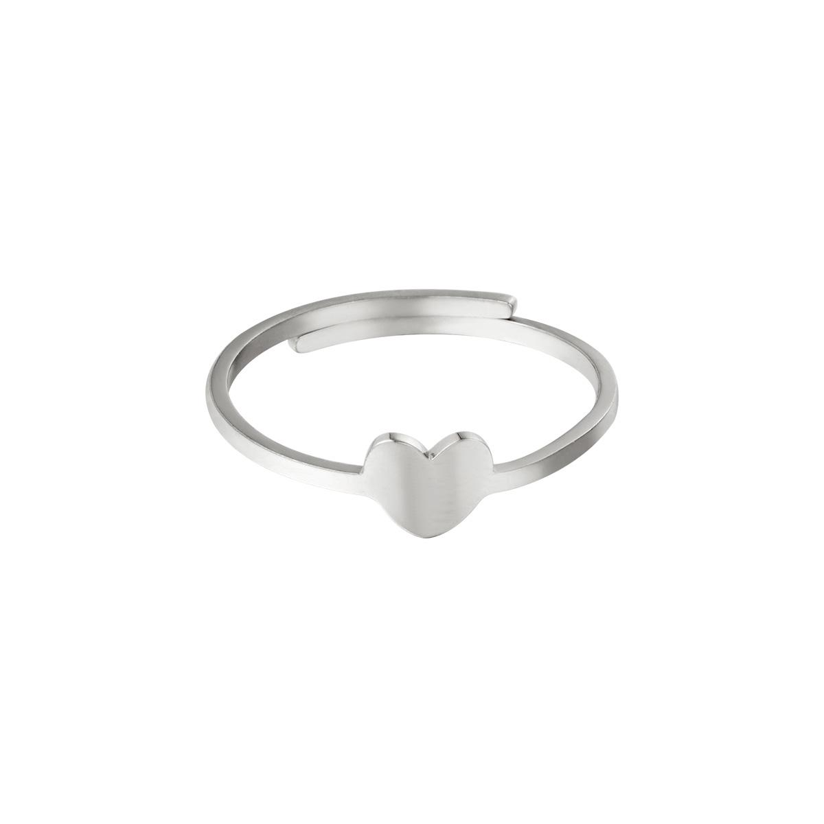 Corazón anillo ajustable