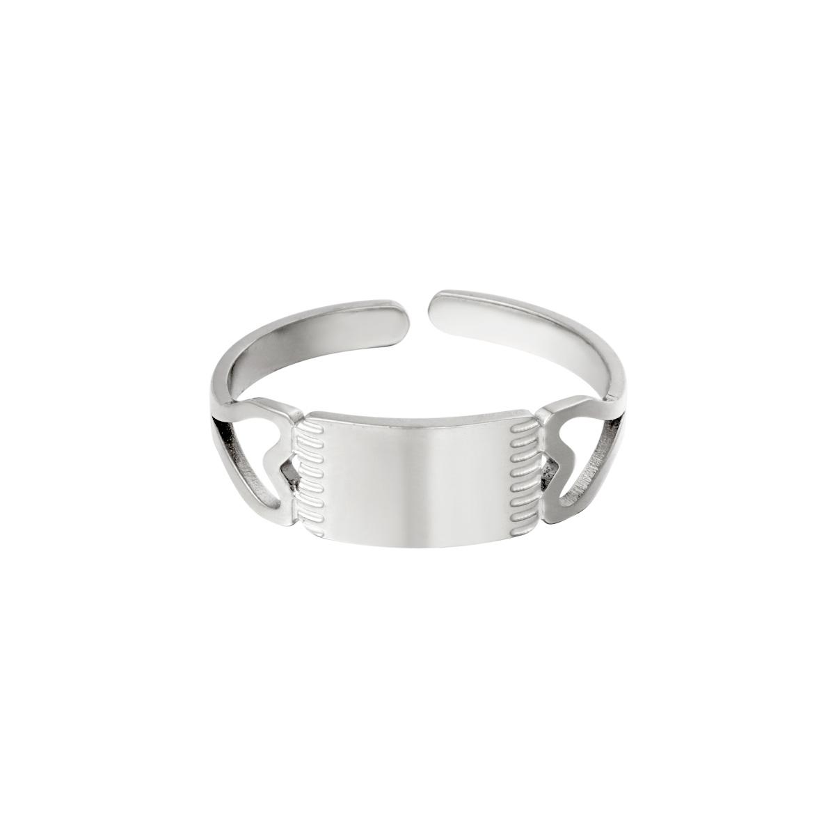 Verstelbare ring dubbele hartjes