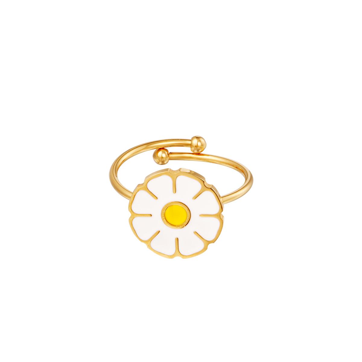 Flor de anillo de acero inoxidable