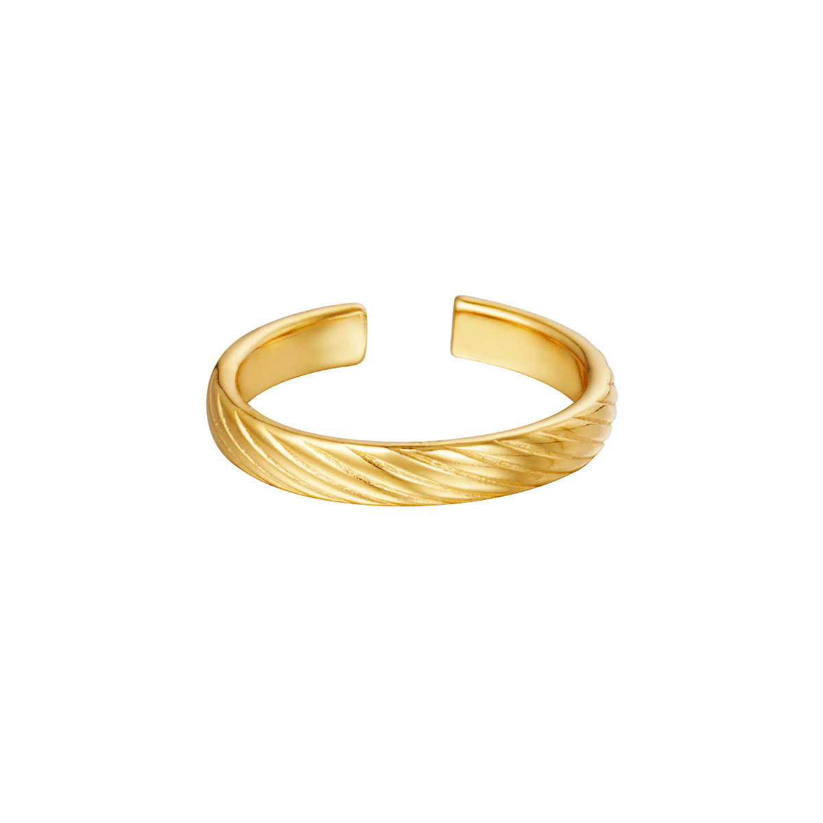 Verstelbare ring gedraaid patroon