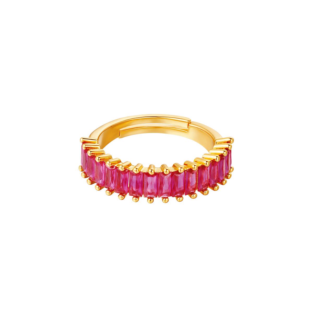 Verstelbare kleurrijke edelstenen ring
