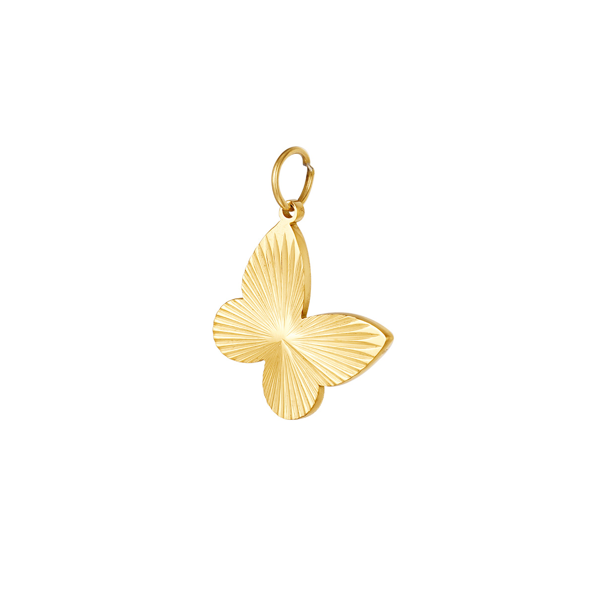 Dije de mariposa de acero inoxidable DIY