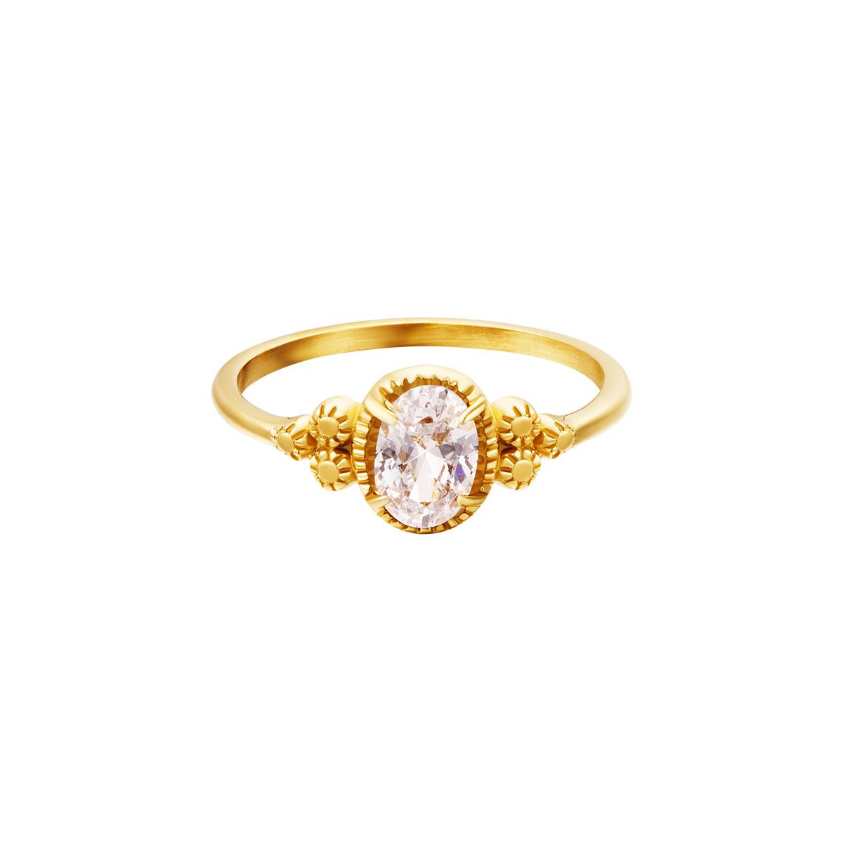 Circón anillo de acero inoxidable