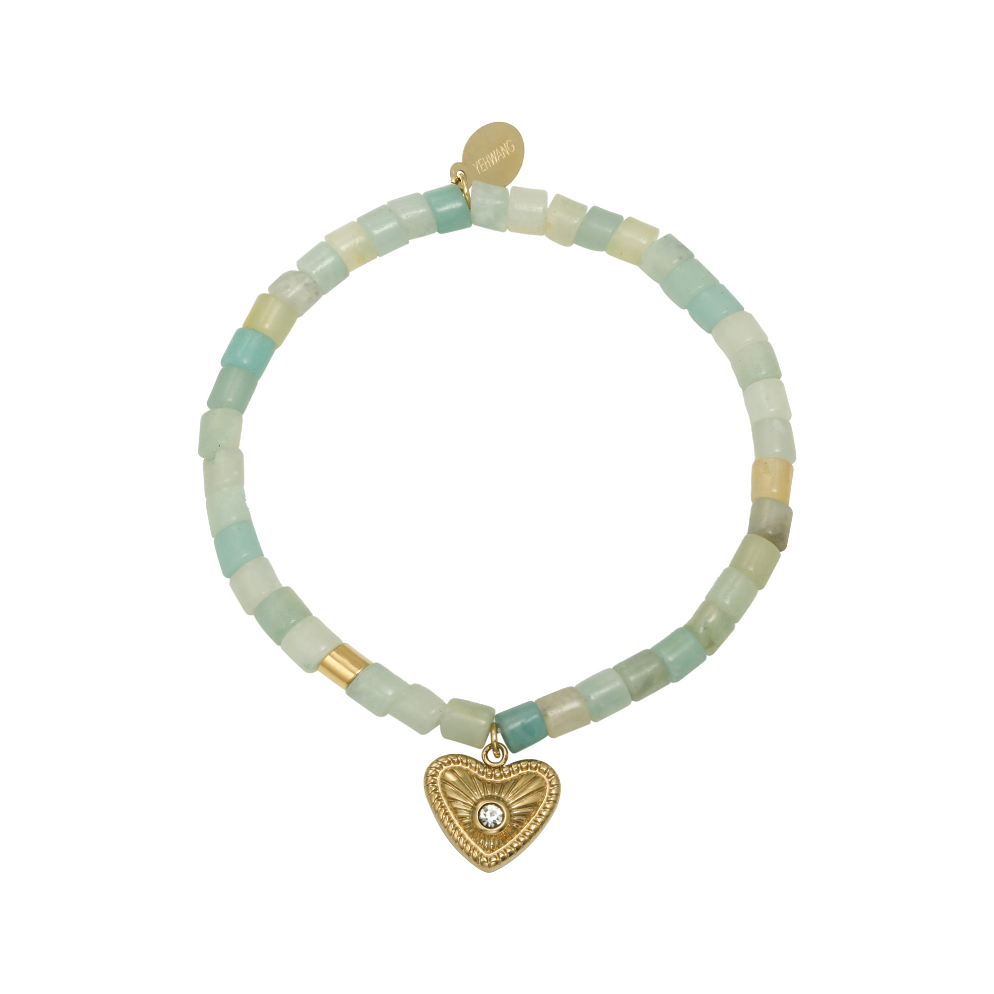 Pulsera Beaded Heart Charm