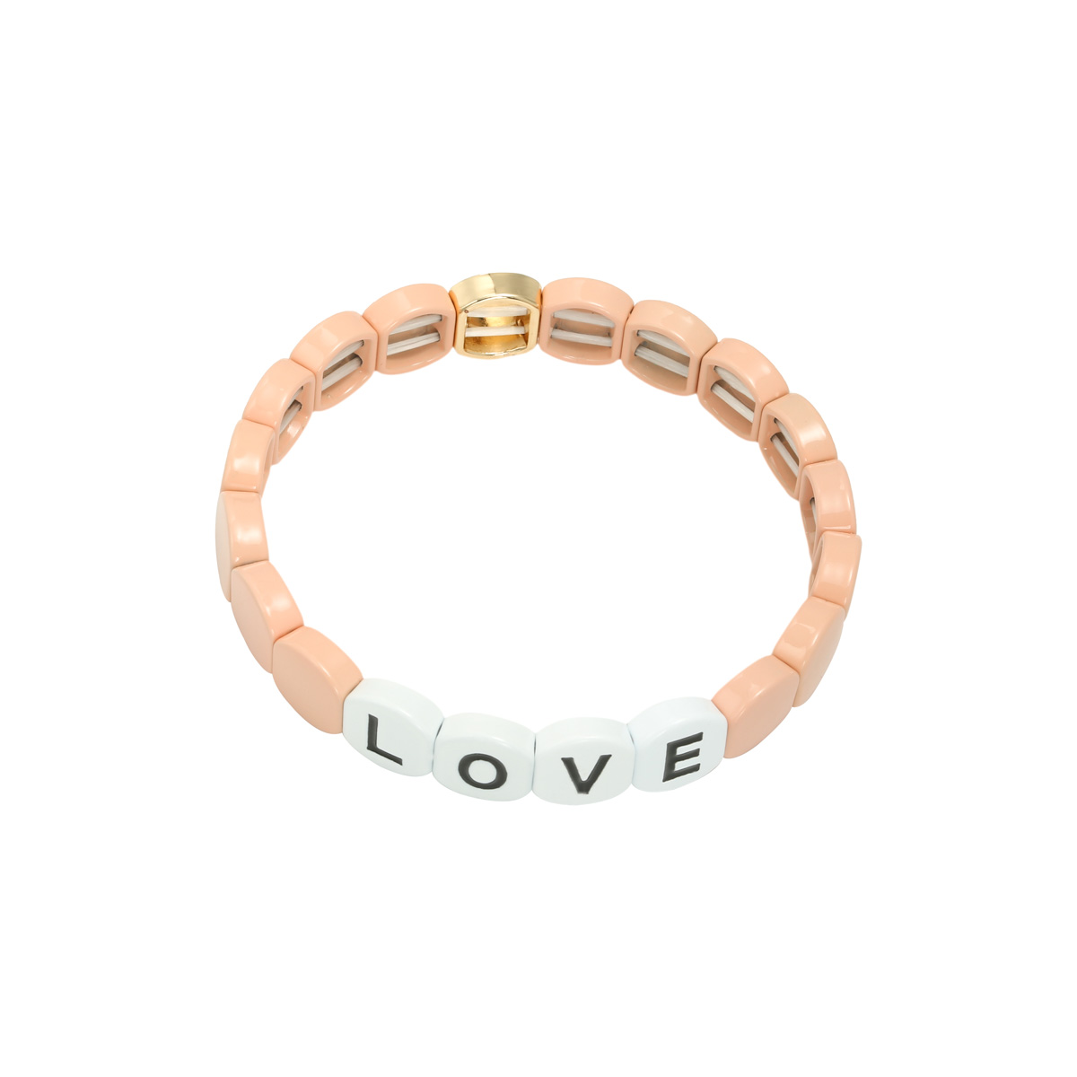 Armband colourful love round