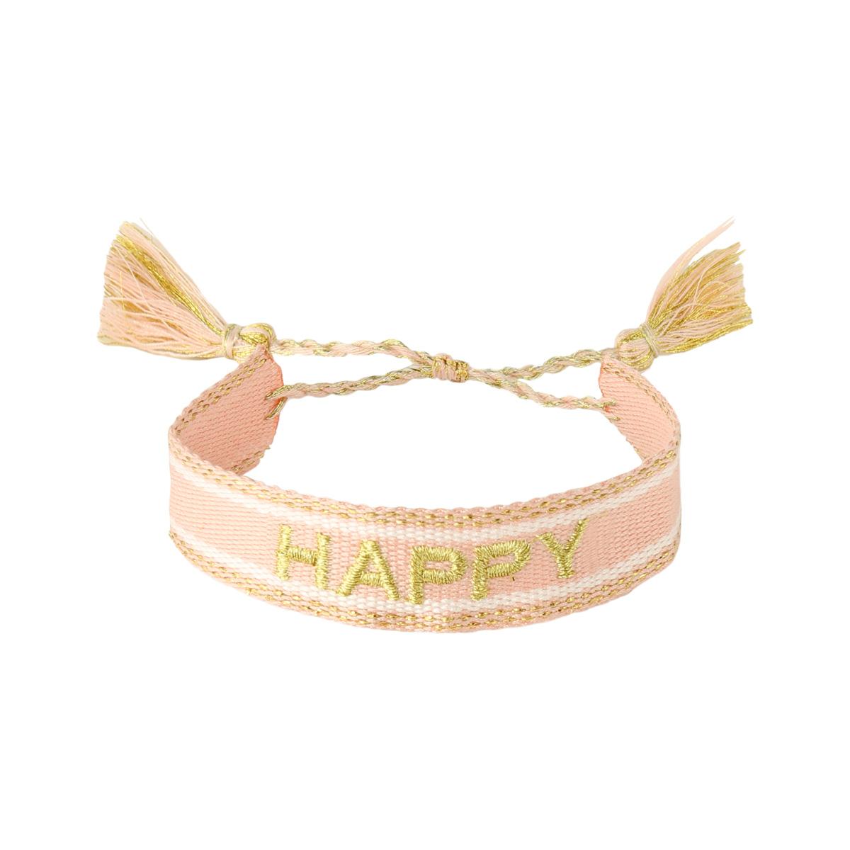 Armband Woven Happy