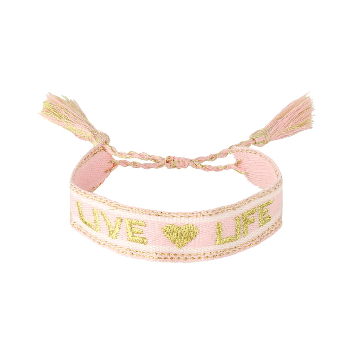 Armband woven live life