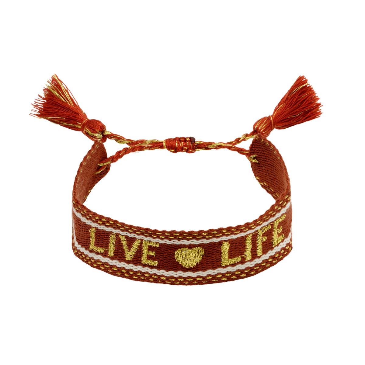 Bracelet Woven Live Life
