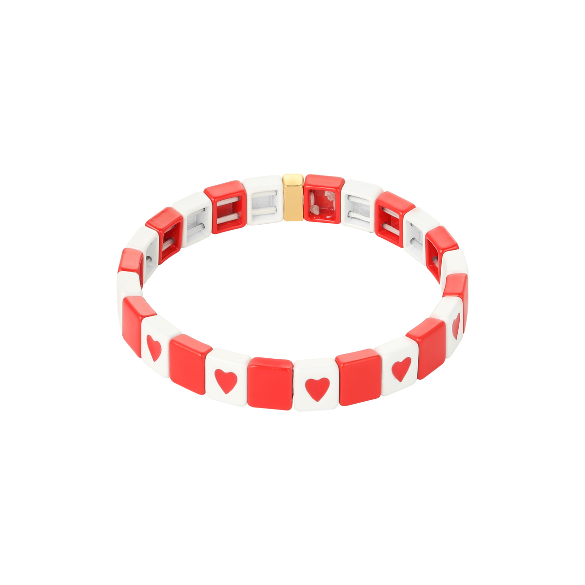 Pulsera Colored Bricks Heart