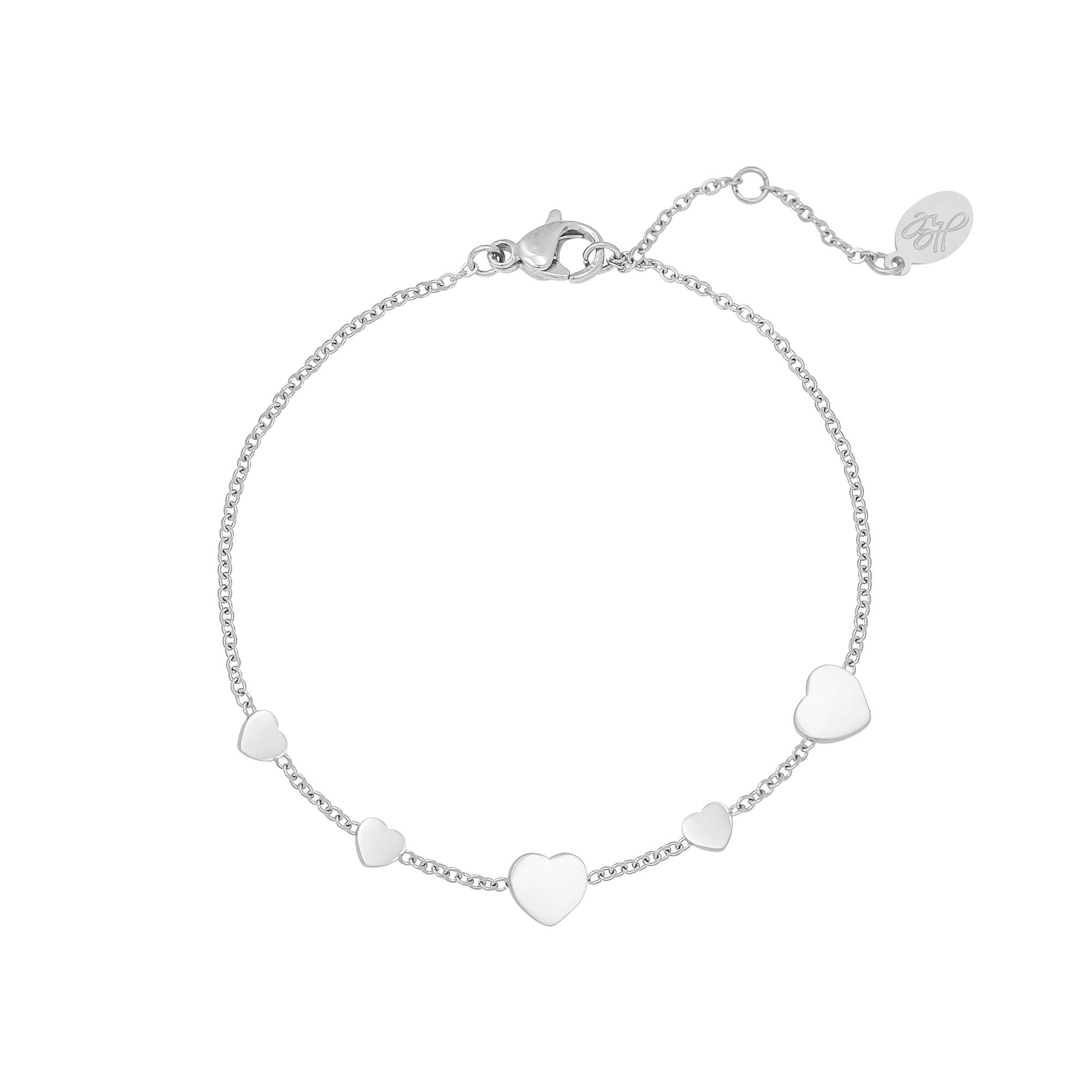 Bracelet Row Coins Heart