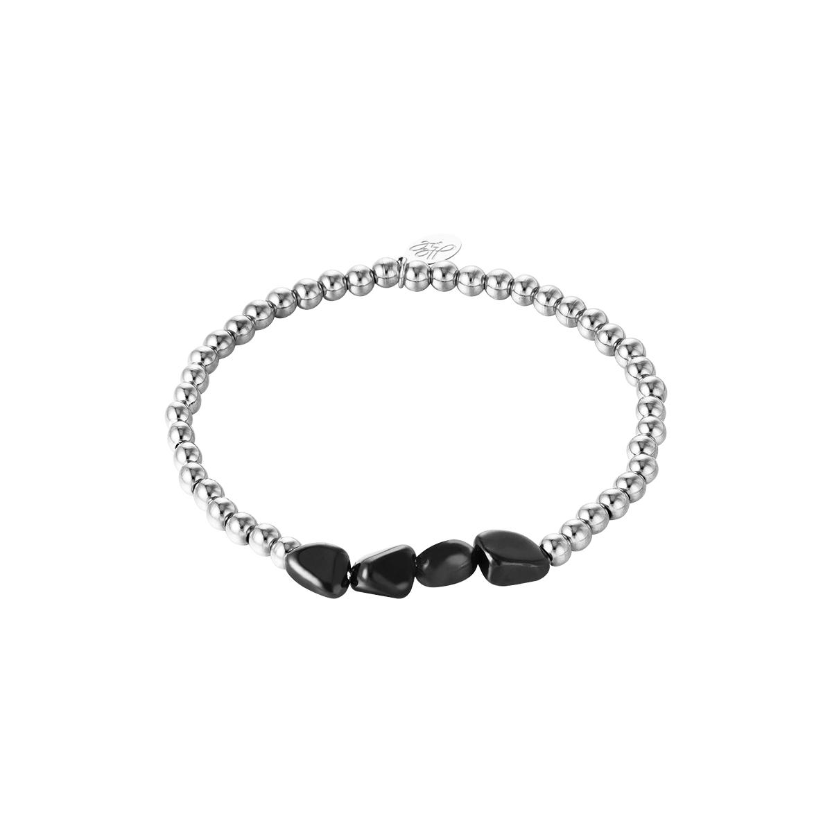 Armband black rocks