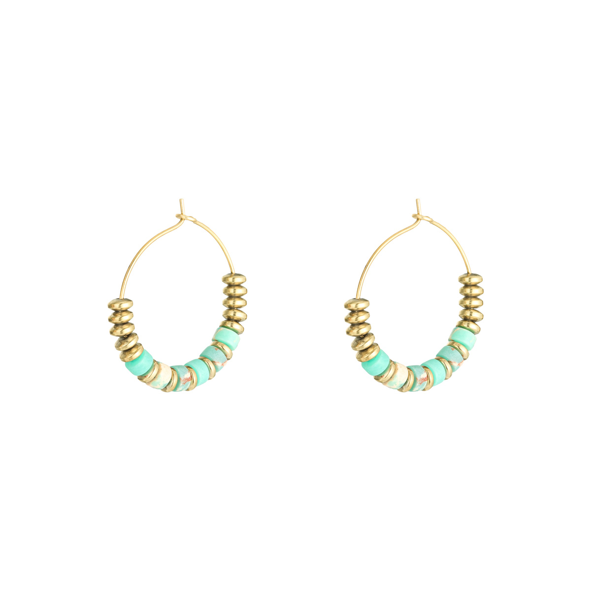 Pendientes Beaded Hoops