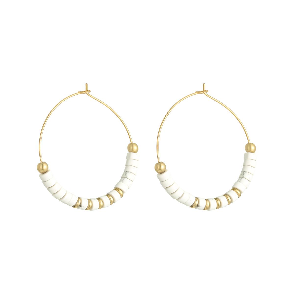 Earrings Beaded Hoops XL