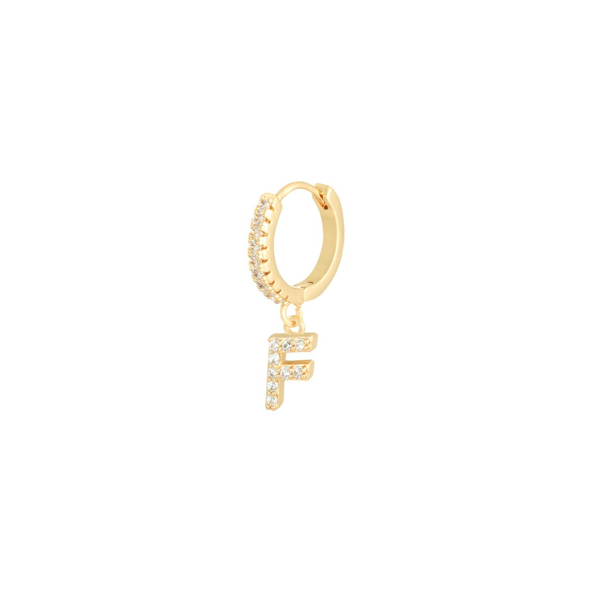 Earrings Letter F