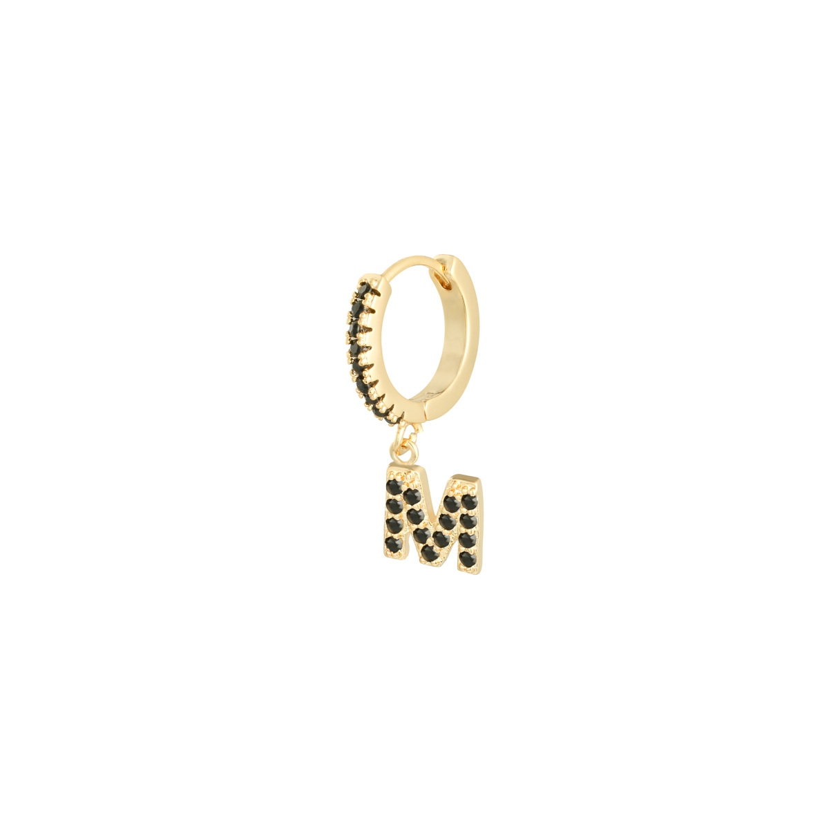Earrings Letter M