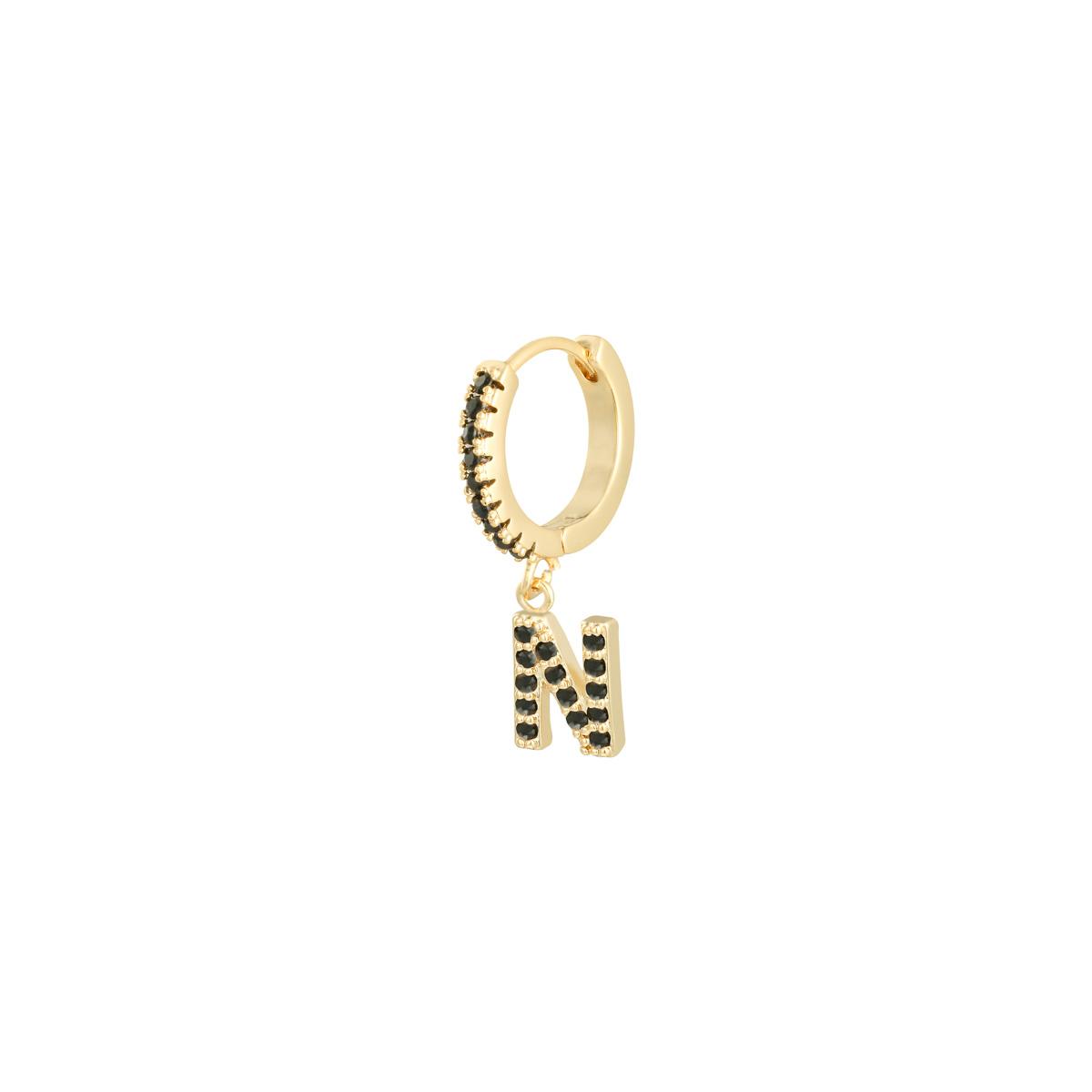 Earrings Letter N