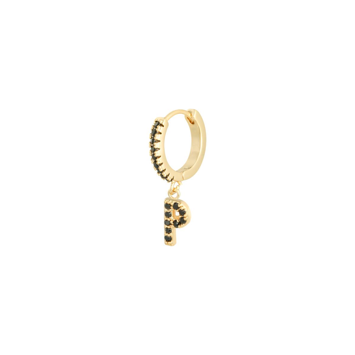 Earrings Letter P