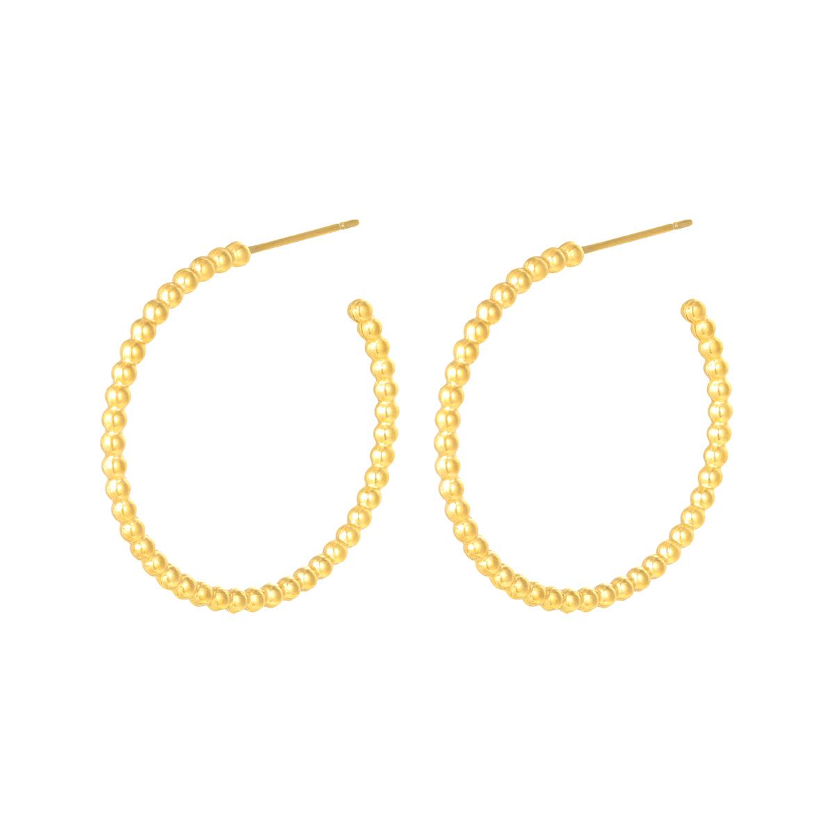 Earrings Dotted L