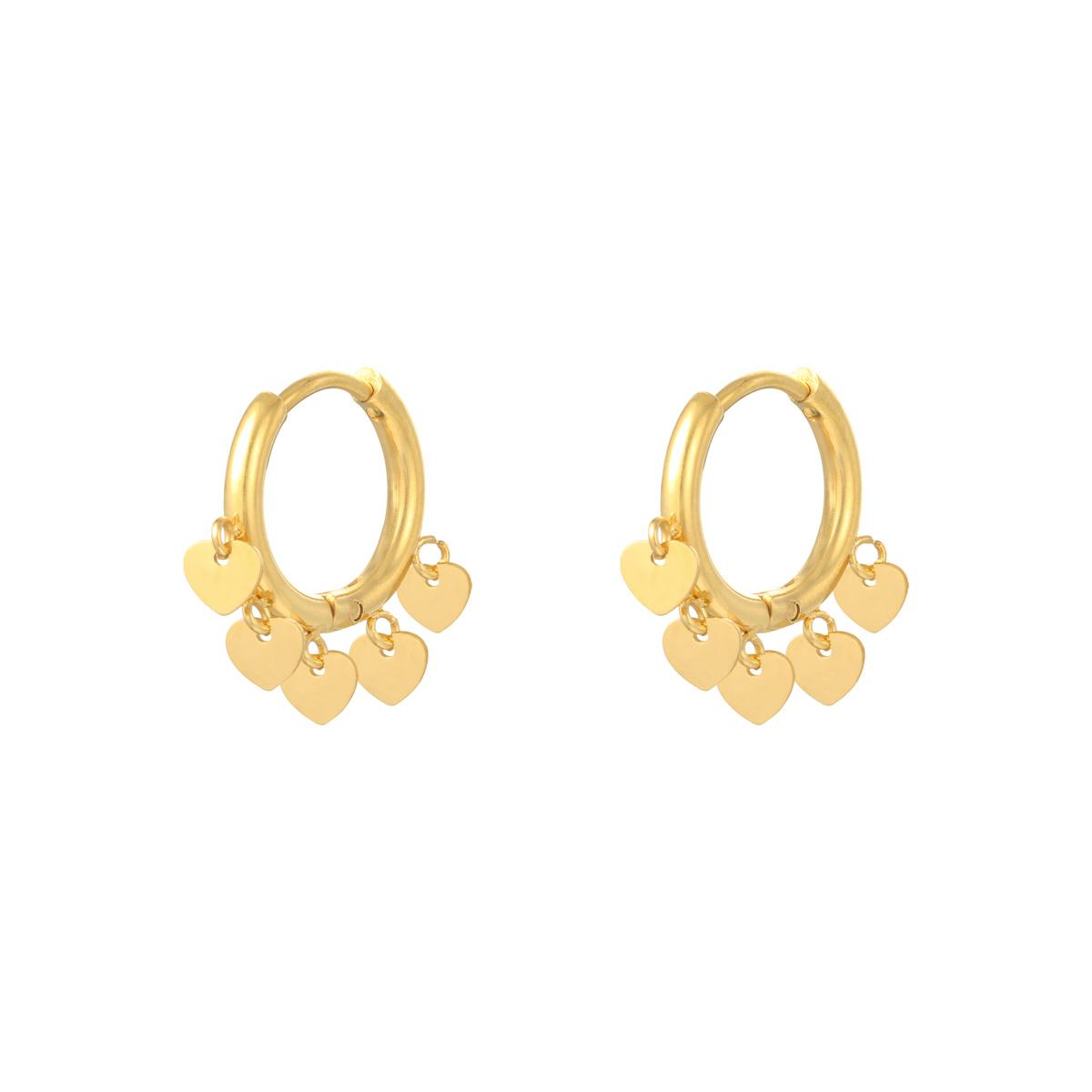 Earrings Floating Hearts