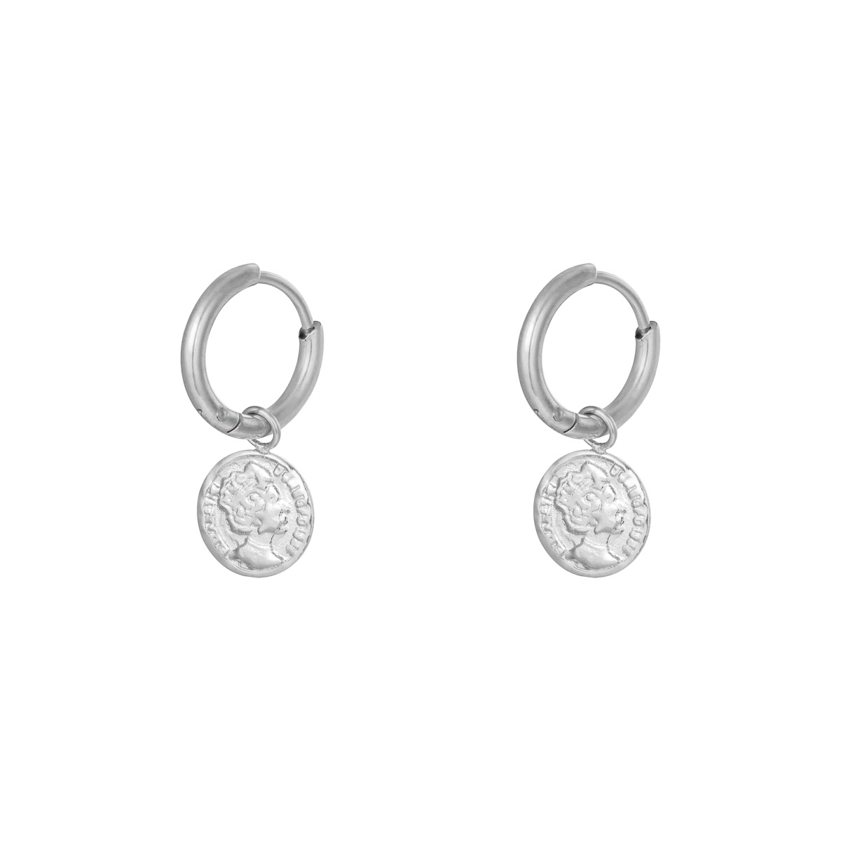 Earrings Ancient Coin