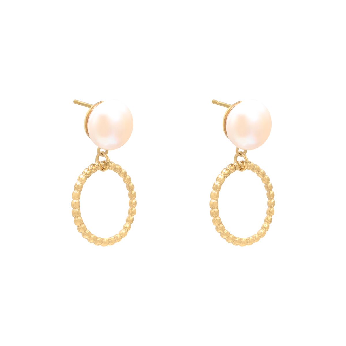 Earrings Pearl Motion